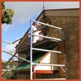 Use correct scaffolding when painting